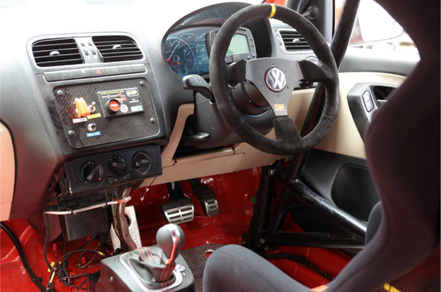Spartan interiors - just like a race car should be.