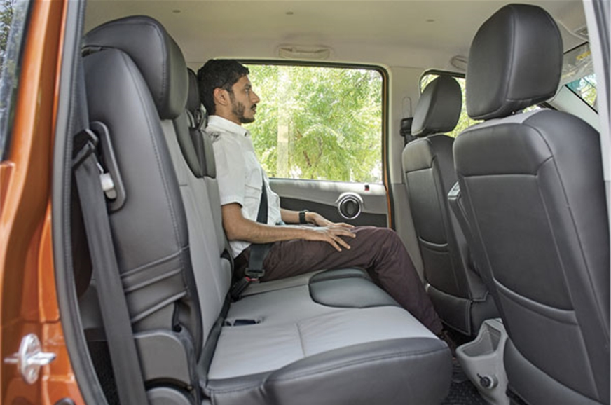 Huge space in second row; can be split and reclined, but ...