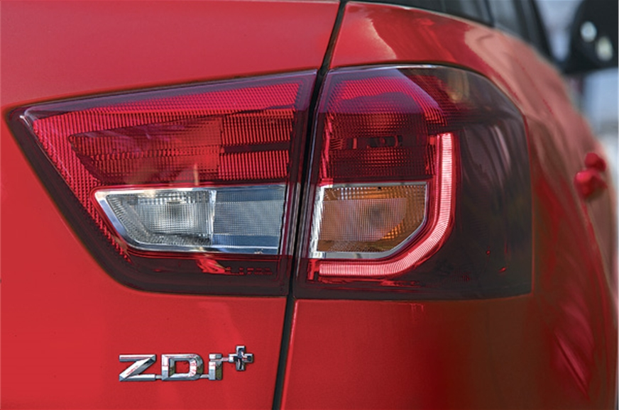 Brezza tail-lights resemble those of its sibling, the S-c...
