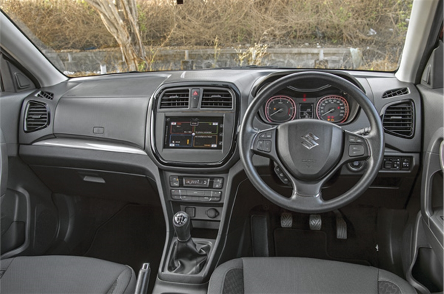 Dashboard design is devoid of design flair,is functional ...