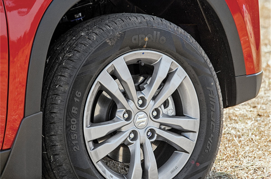 Large, squared-off wheel arches easily swallow 215 sectio...