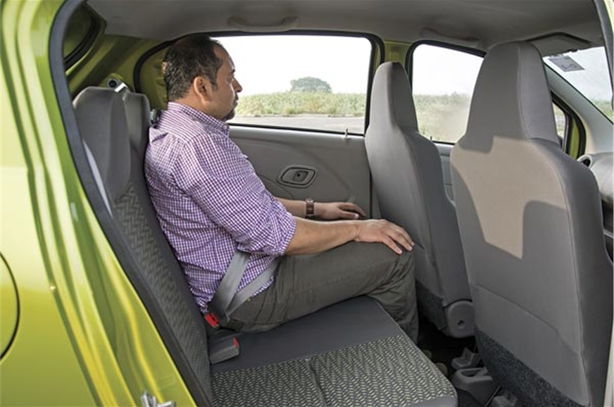 Datsun's back seat is marginally higher, with a bit more ...