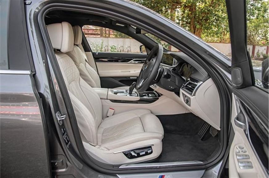 Large and comfy as they are, the front seats don't get co...