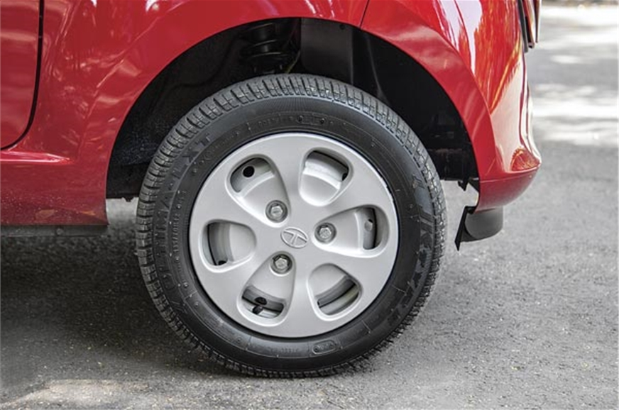 The small wheels affect vehicle dynamics adversely.