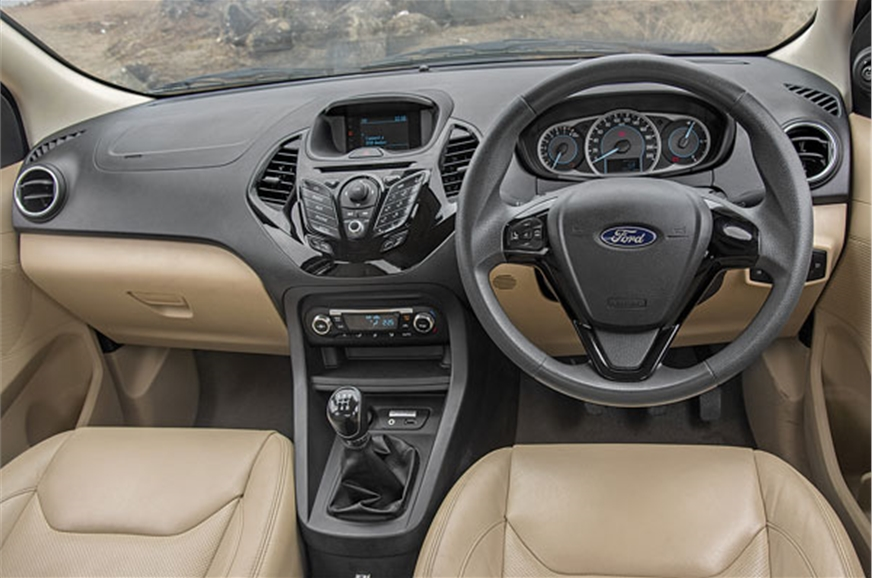 With its winged design and glossy-black trim, the Ford ha...