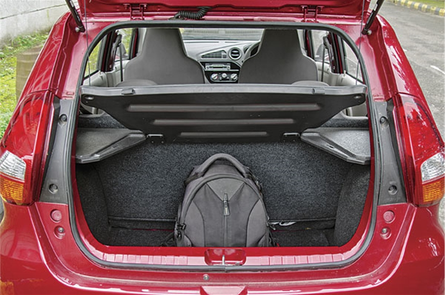222-litre boot is small and it gets a high loading lip. R...
