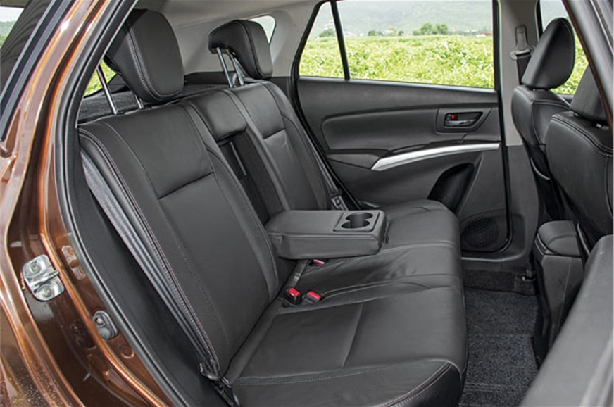 Rear seats are supple, comfy and also recline in two steps.