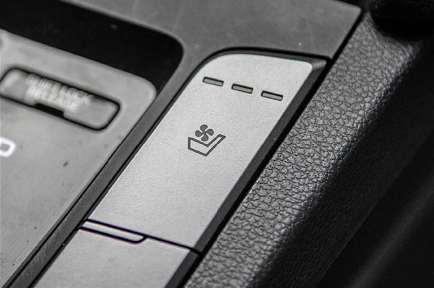 A segment-unique feature is ventilated/cooled front seats...