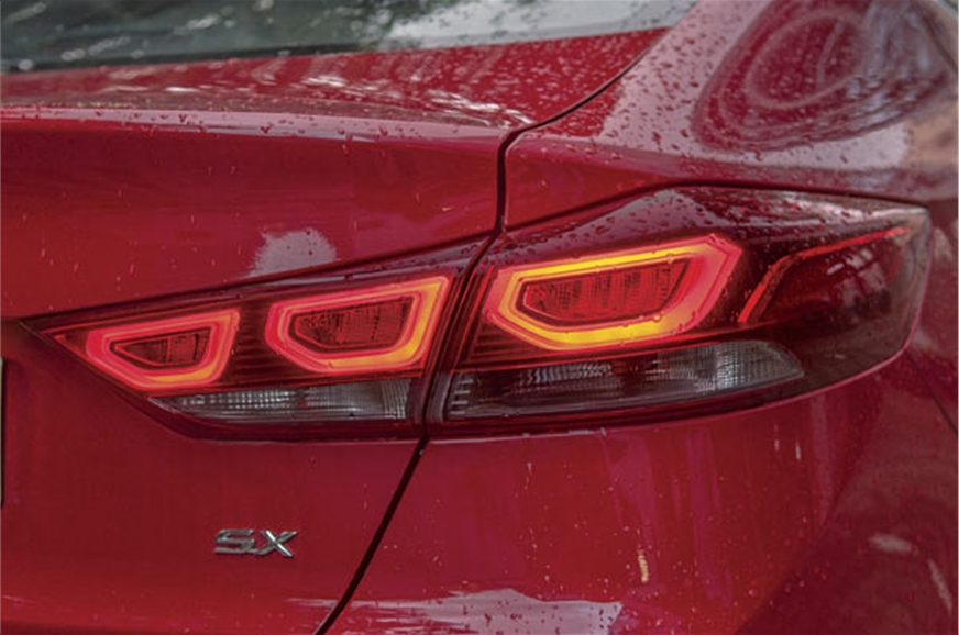 New, slimmer tail-lamps have a classy looking, triple-LED...