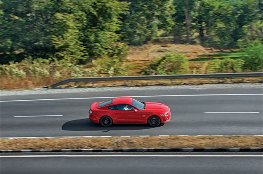 Long straights, open highways; the Mustang is in its elem...