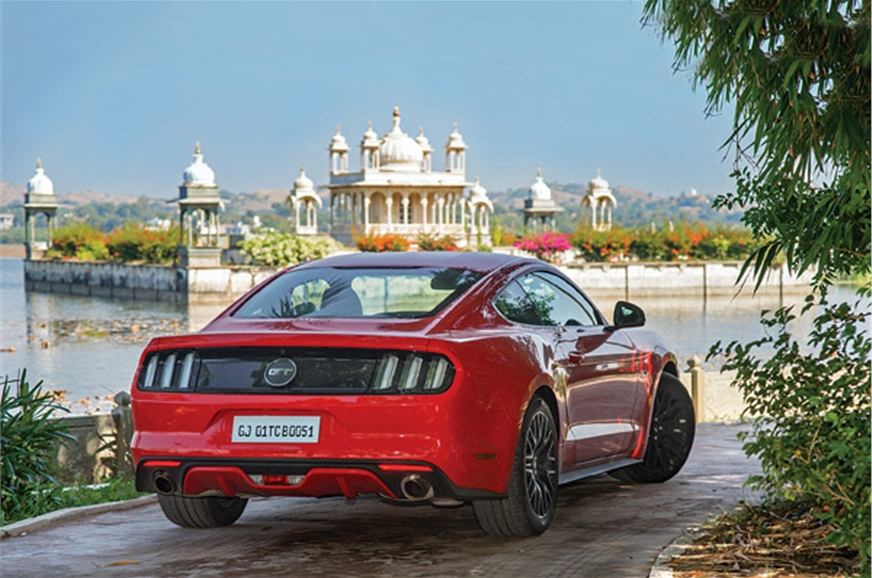 No, that's not the Lake Palace; the Mustang takes a small...