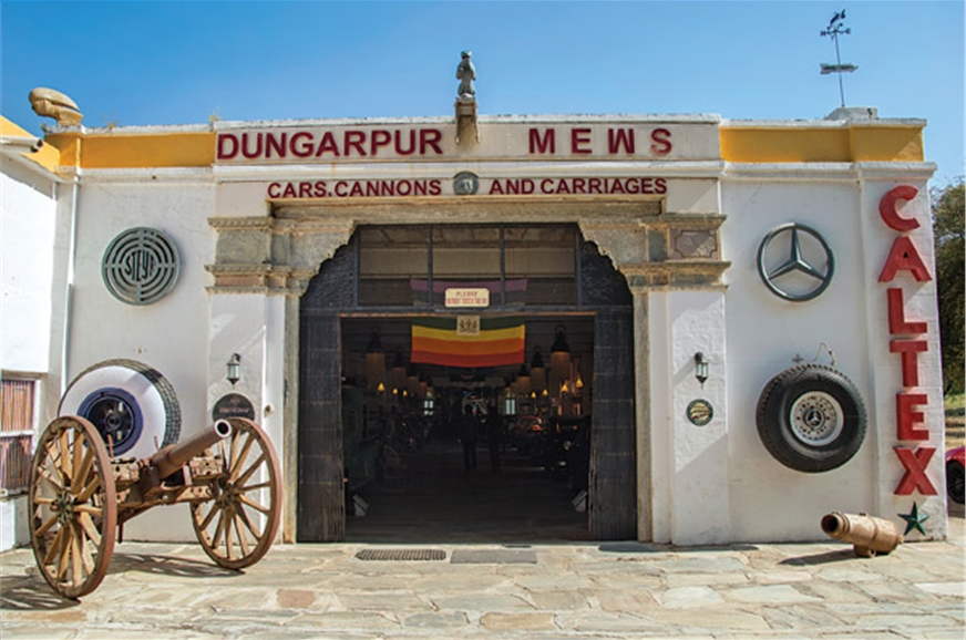 The museum at Hotel Udai Bilas Palace, Dungarpur, is smal...