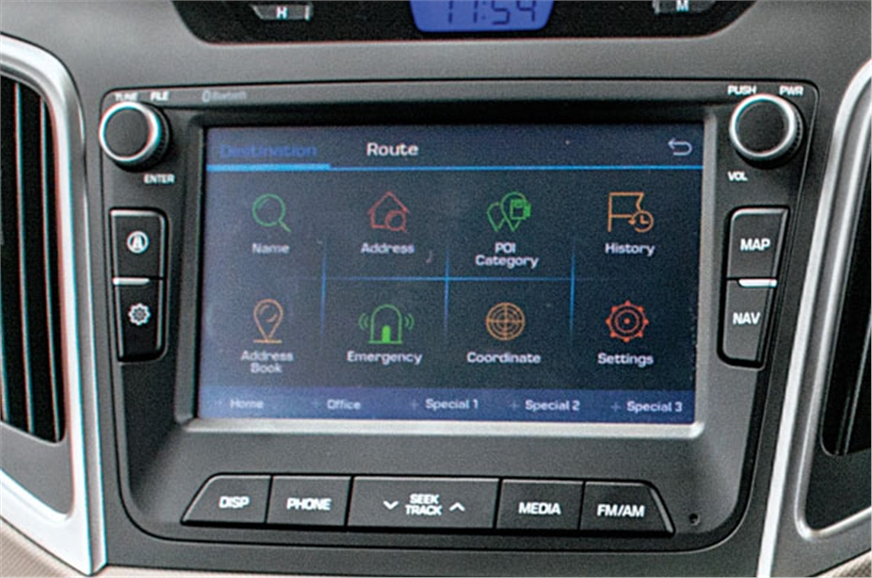Reflective infotainment screen is difficult to read in th...