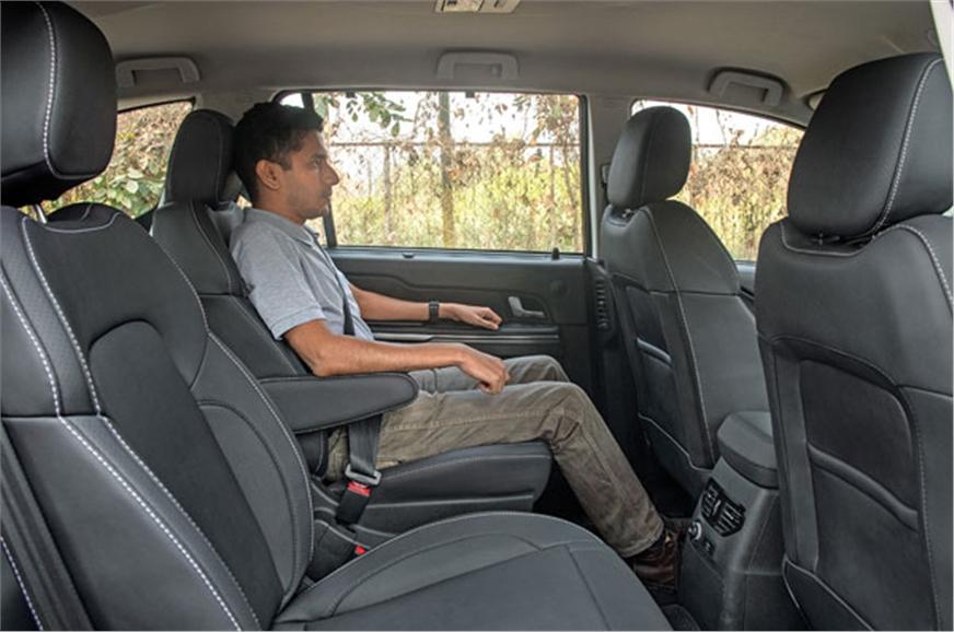 Captain chair option replicates front seat comfort; 60:40...