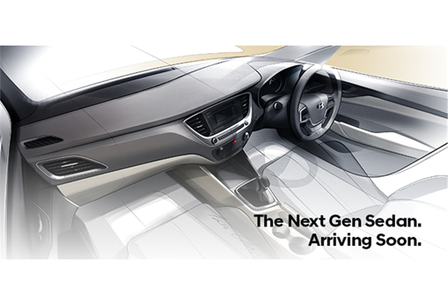 New Hyundai Verna official interior teaser.