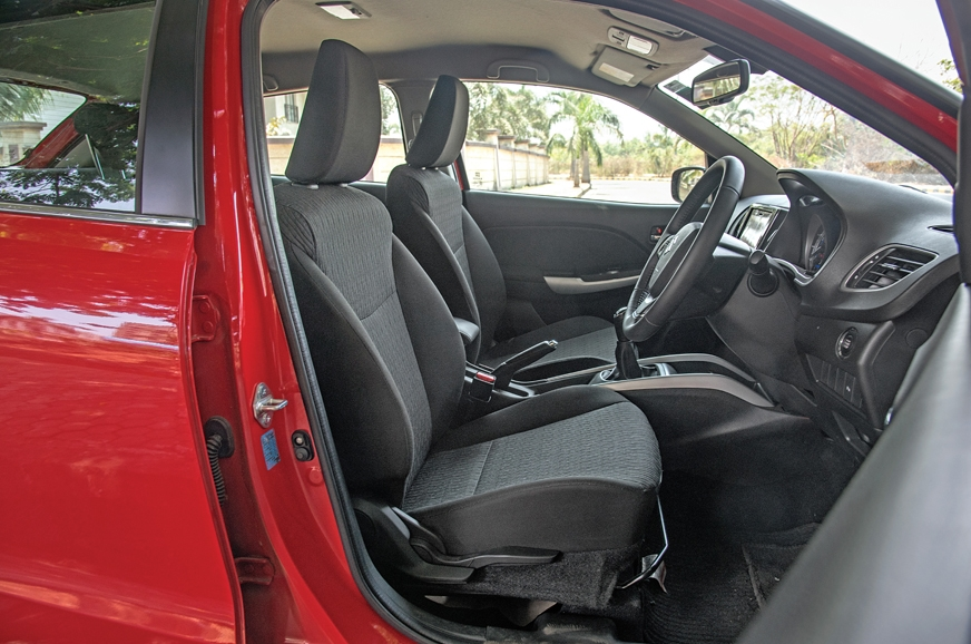 Driver's seat is well-cushioned and it's easy to find a g...