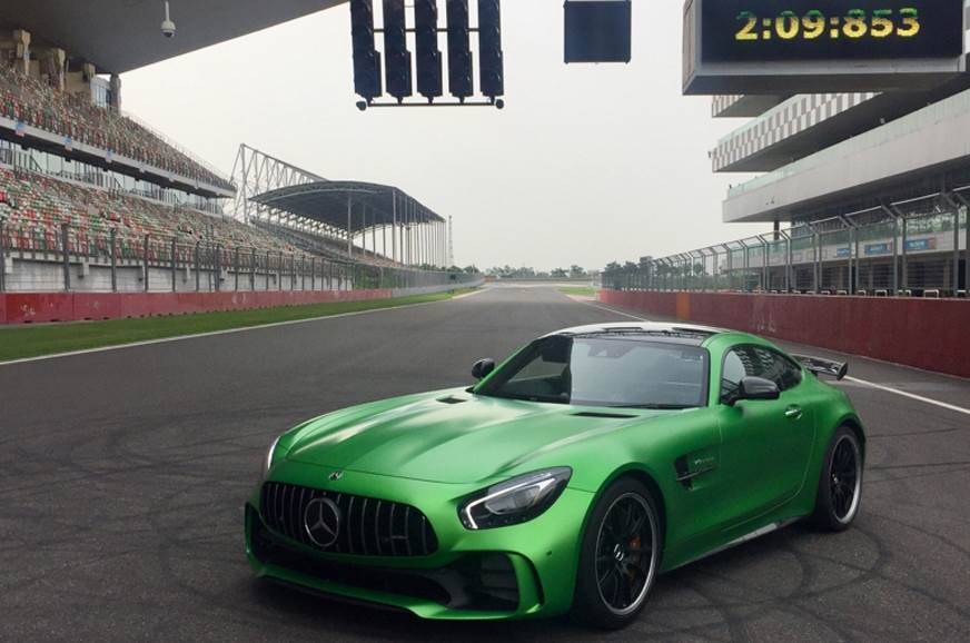 Mercedes-AMG GT R sets lap record at Buddh circuit
