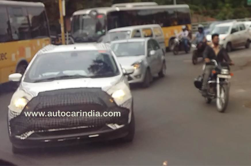 Ford Figo facelift spied in India