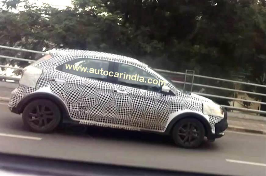 Ford Figo Cross spied in India
