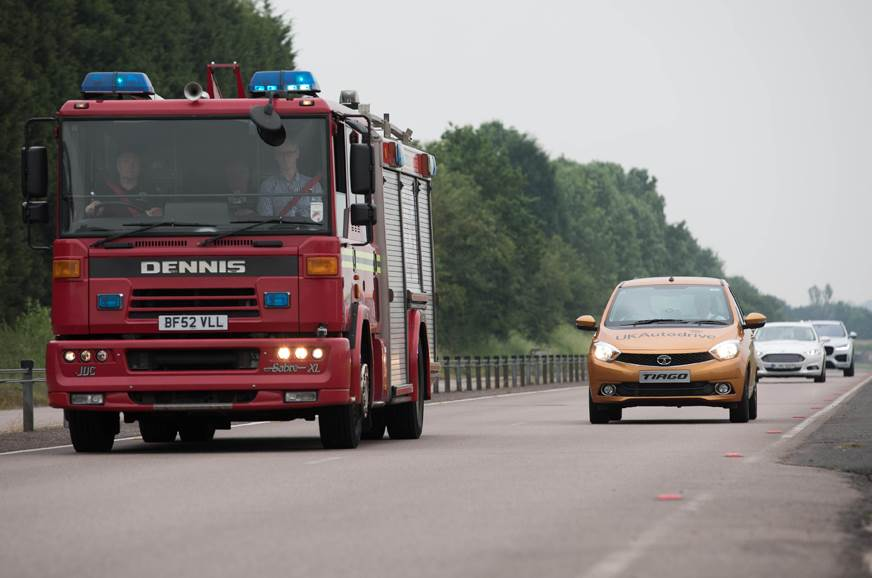 Self-driving Tata Tiago participates in UK Autodrive trials