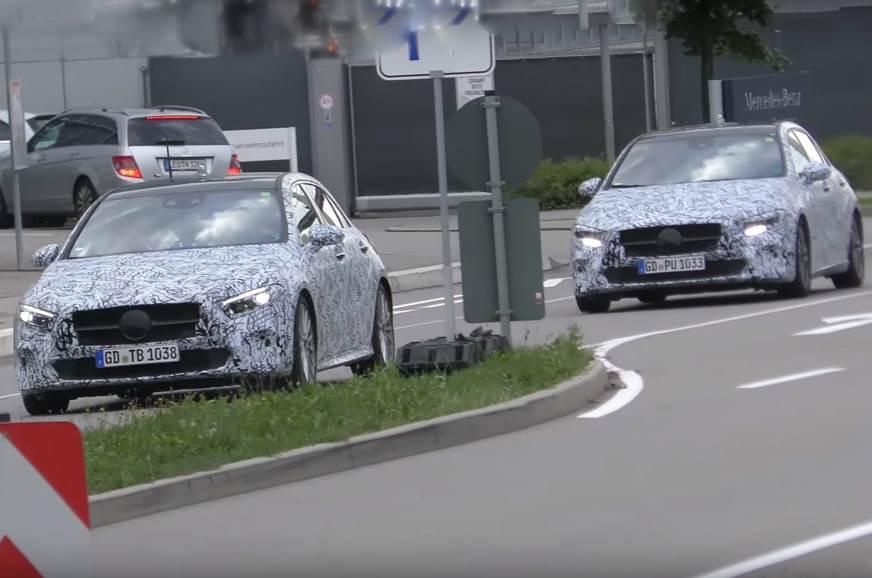 2018 Mercedes-Benz A-class spied testing