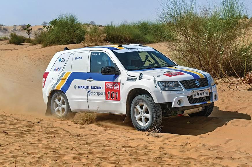 Team Maruti Suzuki's Grand Vitara at the 2018 Desert Storm