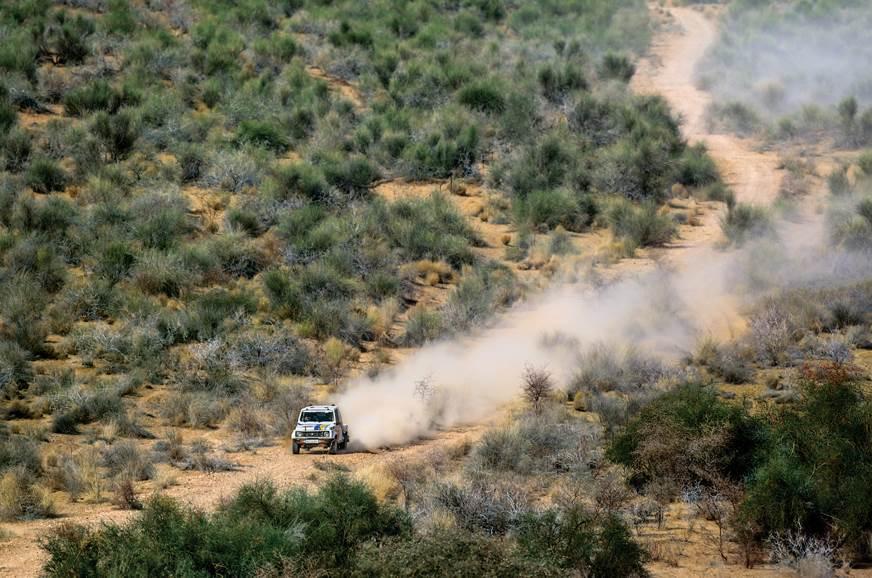 Team Maruti Suzuki's Gypsy at the 2018 Desert Storm