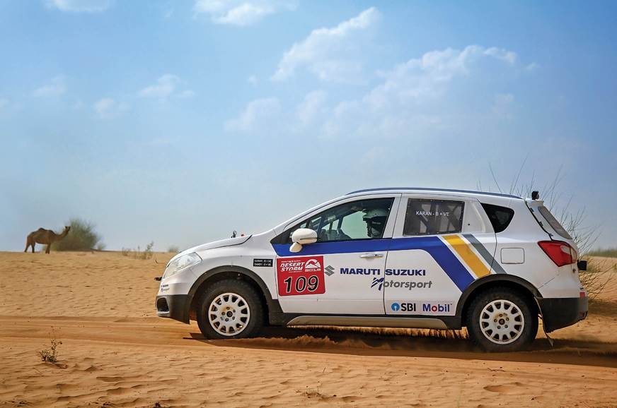 Team Maruti Suzuki's S-Cross at the 2018 Desert Storm