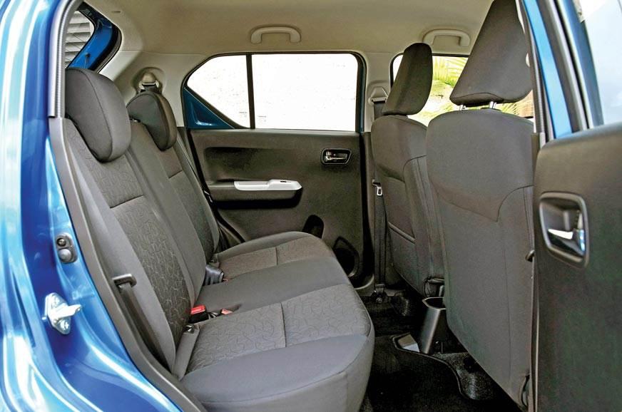 Maruti Ignis rear seat