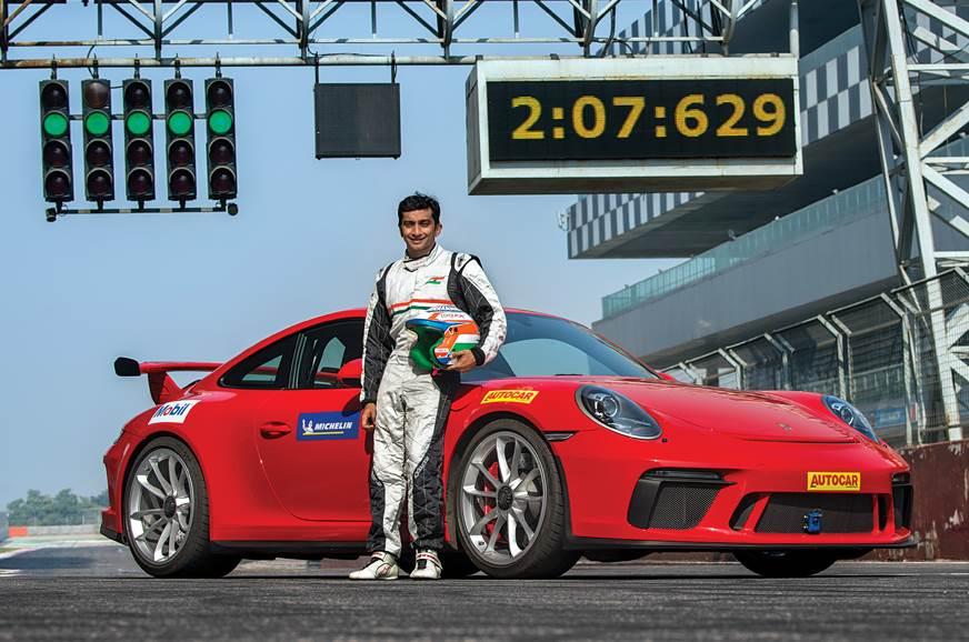 Porsche 911 GT3 BIC lap record Karthikeyan