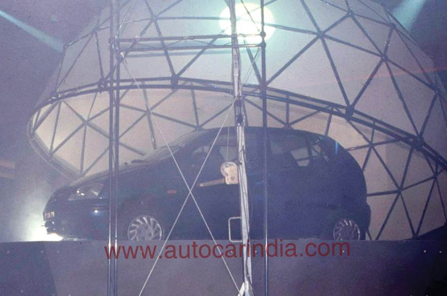 Tata Indica at Auto Expo 1998