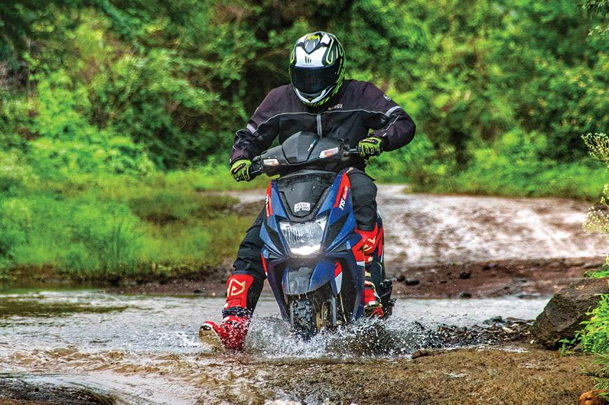Rally-spec TVS Ntorq SXR ride experience - Feature