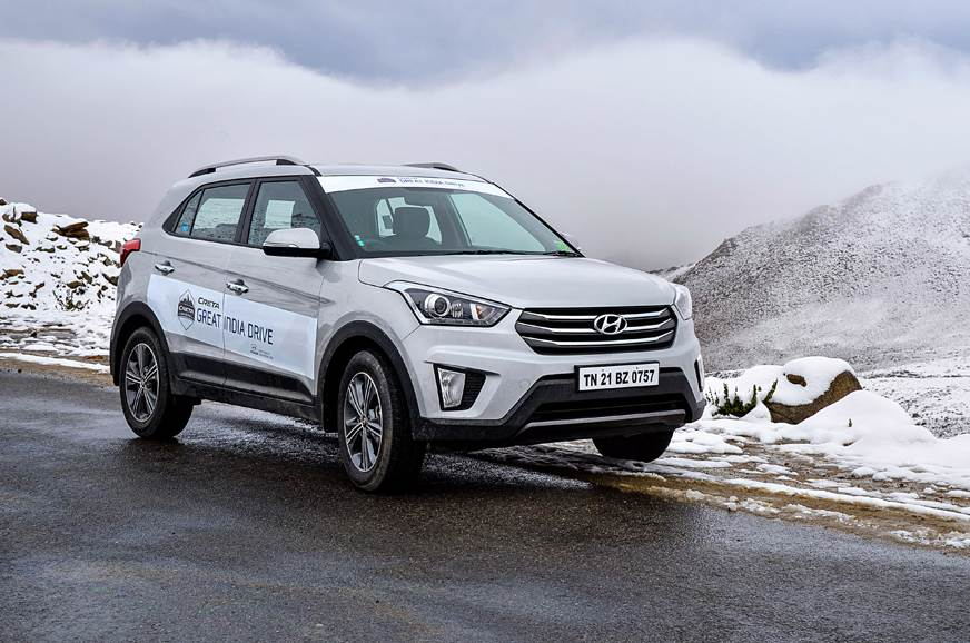 Hyundai Creta snow drive