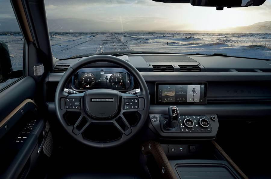 Land Rover Defender dashboard