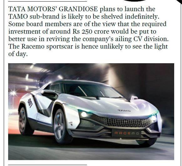 Tata Racemo confidential ACI July 2017