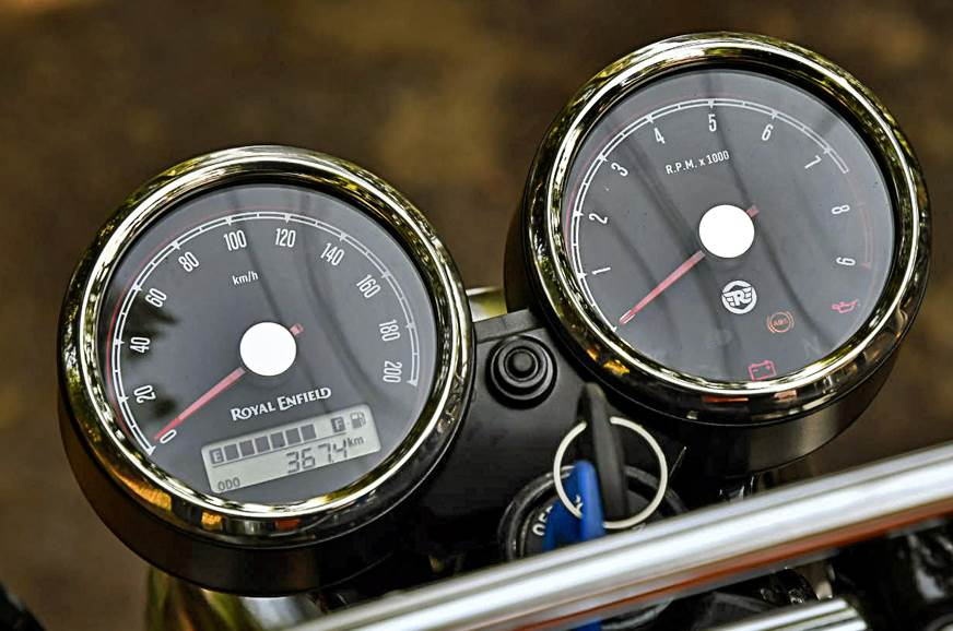 2018 Royal Enfield Interceptor 650 instrument