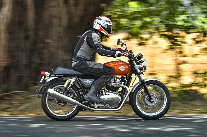 2018 Royal Enfield Interceptor 650 side action