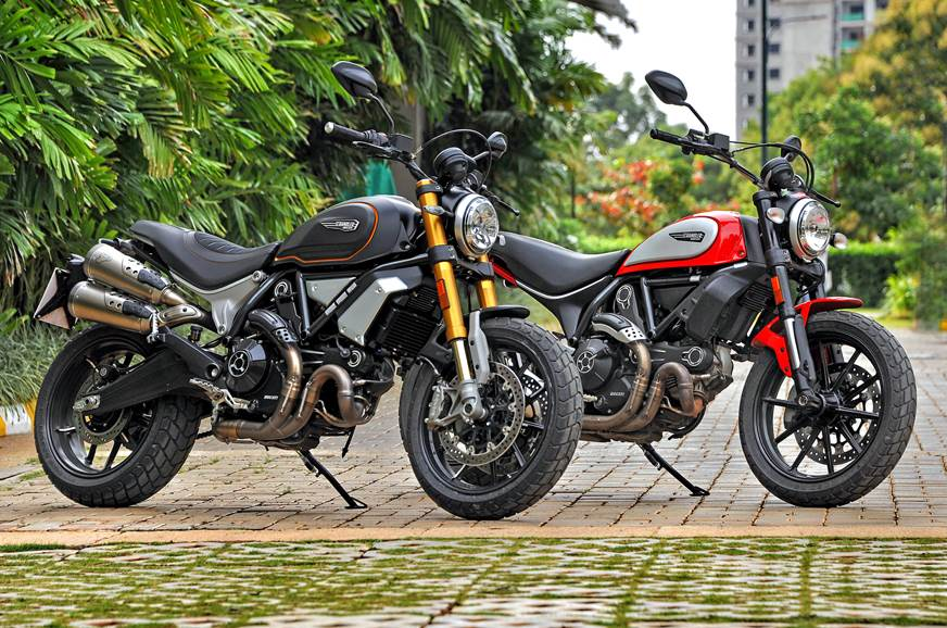 Ducati Scrambler 1100 with the Scrambler 800