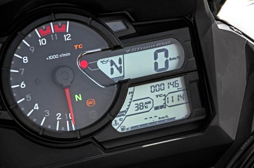 2018 Suzuki V-Strom 650XT instrument cluster