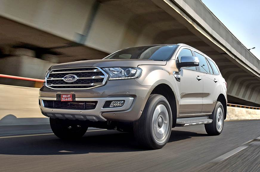 2019 Ford Endeavour facelift front action