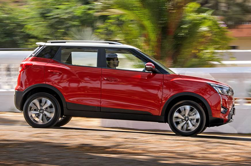 2019 Mahindra XUV300 side action red