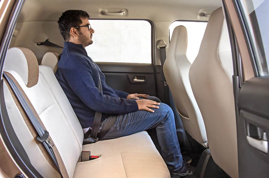 2019 Maruti Suzuki Wagon R rear seats