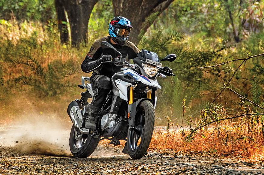 BMW G 310 GS front action