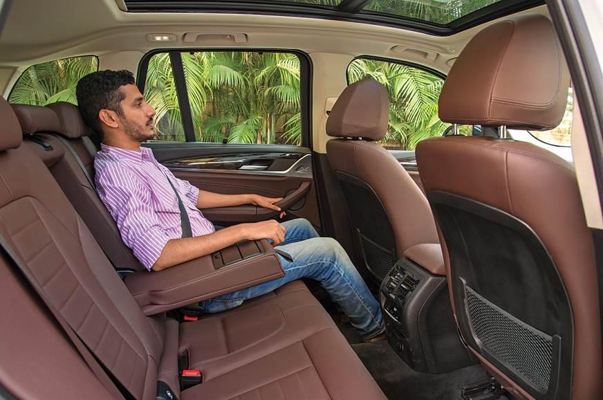 BMW X3 rear seat
