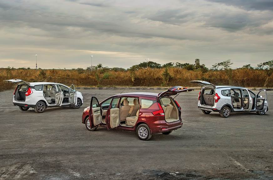 Ertiga vs Marazzo vs Lodgy rear