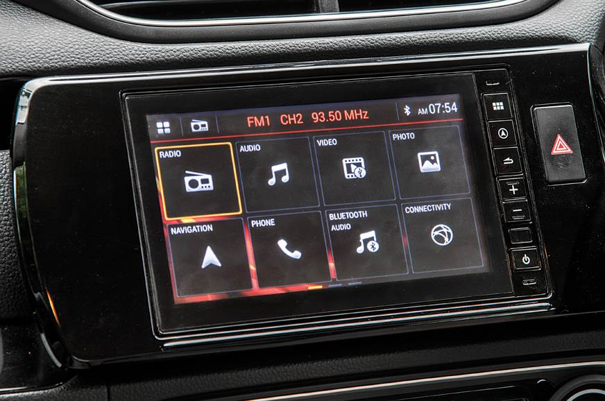 Honda Amaze infotainment