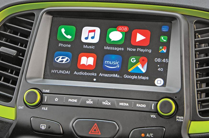 Hyundai Santro infotainment screen