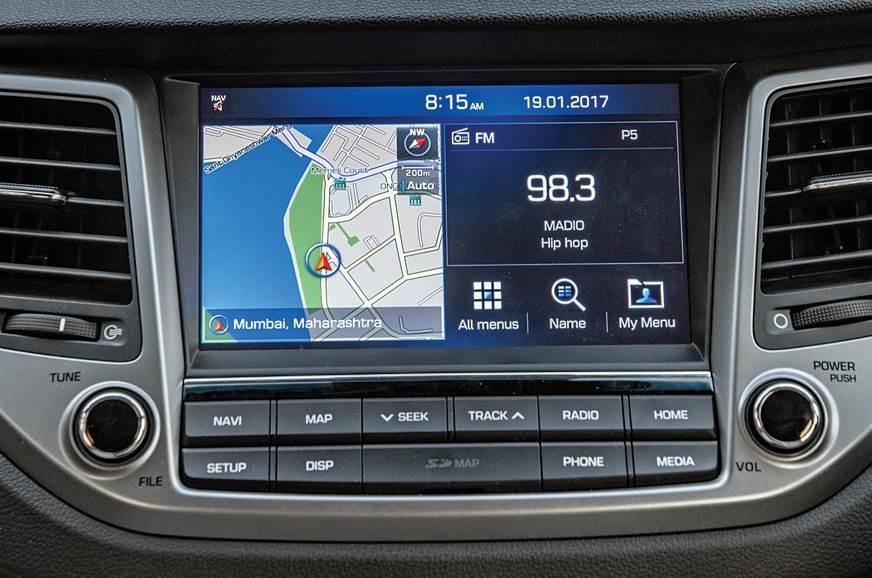 Hyundai Tucson infotainment
