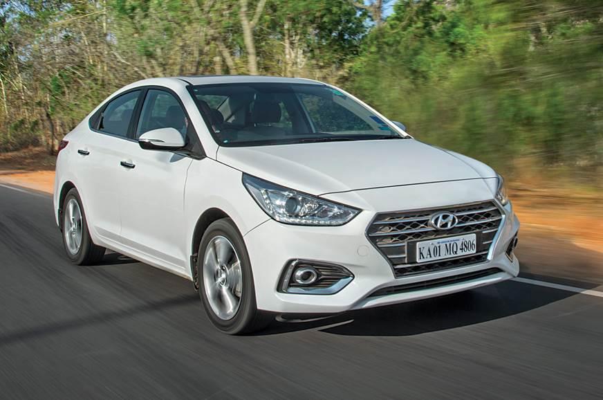 Hyundai Verna front action