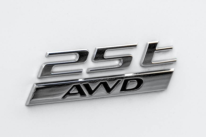 Jaguar F-Pace petrol 25t badge